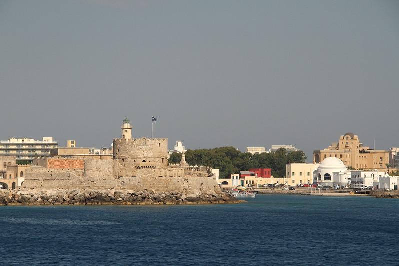 Mandraki Harbor Fortress.