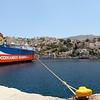 Docked ferry.