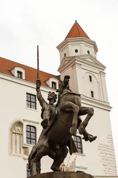 Equestrian statue of King Svatopluk I