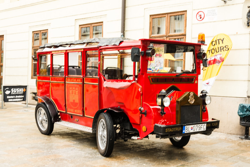 Red Tourist car