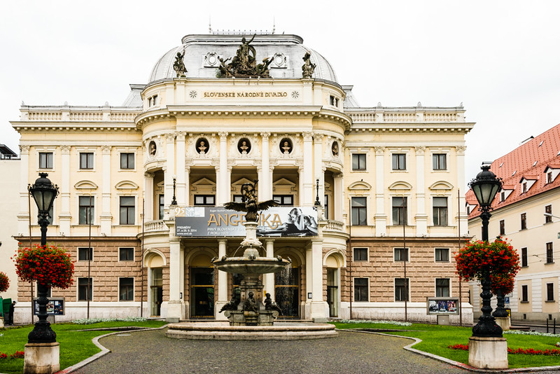 The old Slovak National Theatre building
