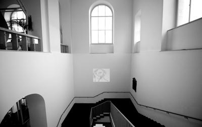 Videopräsentation 'Das ist nicht die fertige Zeichnung', westliches Treppenhaus