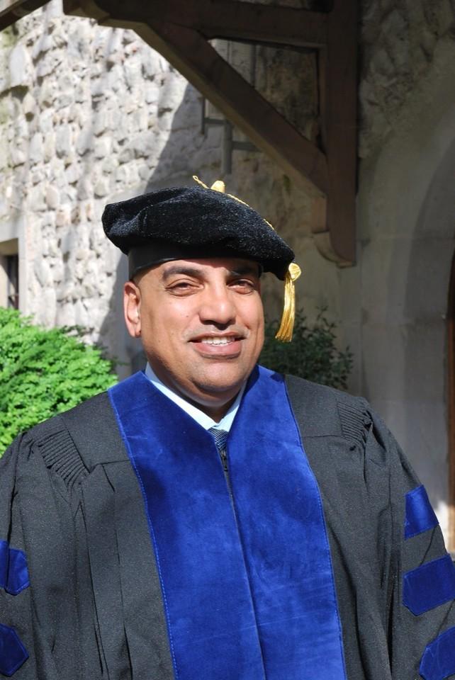Newly minted doctoral graduate Adel Salem.