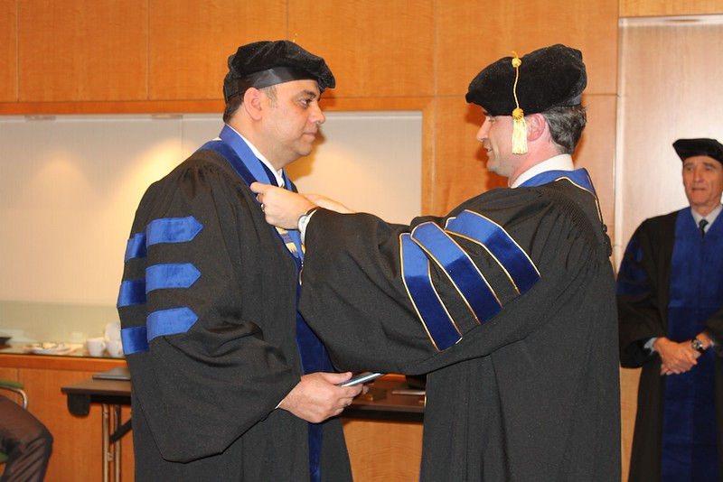 Zakir Hussain Graduating As Doctor of Business Administration