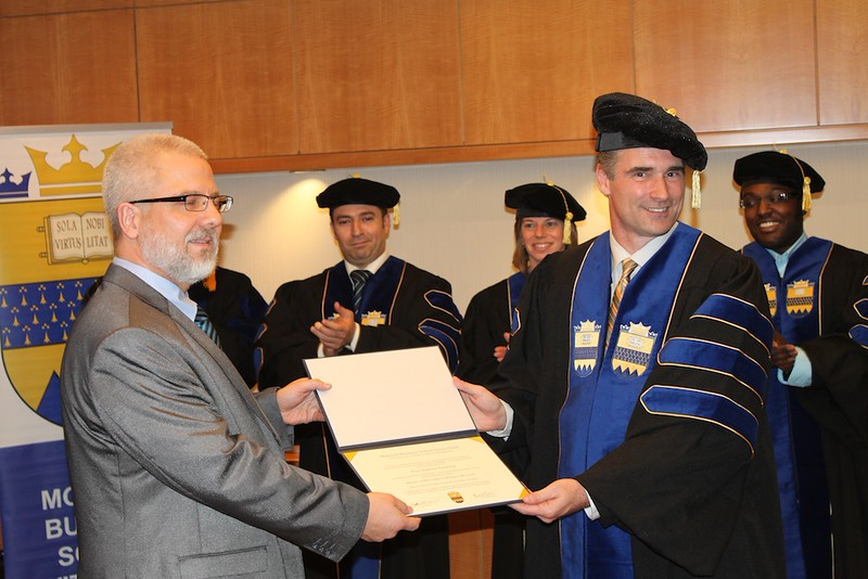 Terje Tonsberg Graduating As Master of Philosophy in Business Research