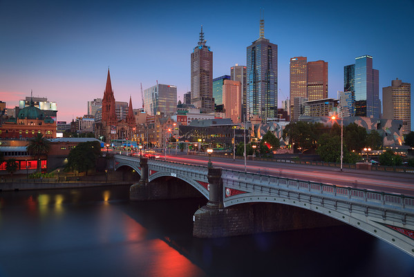 Twilight in Melbourne
