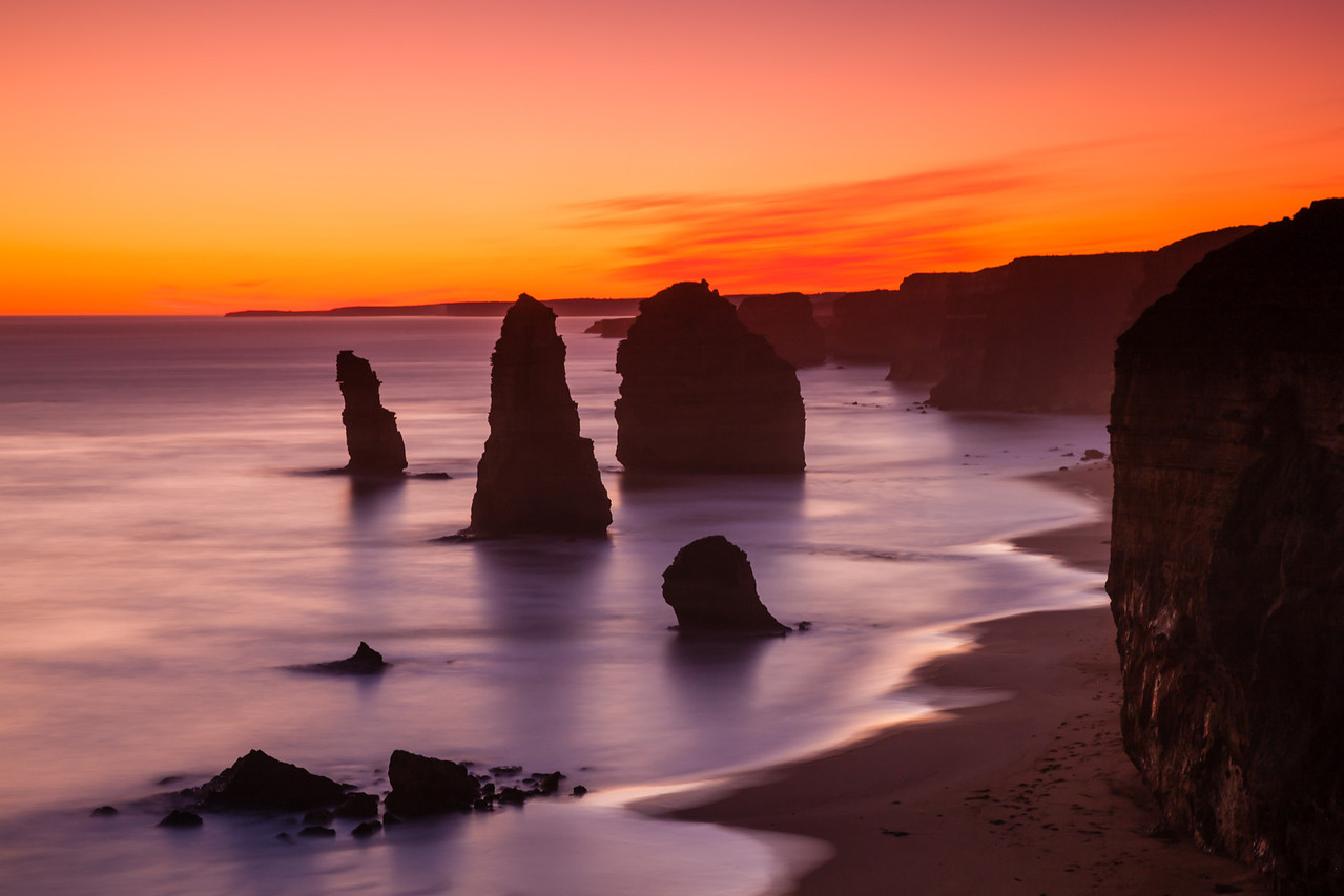 Apostles in the Sunset