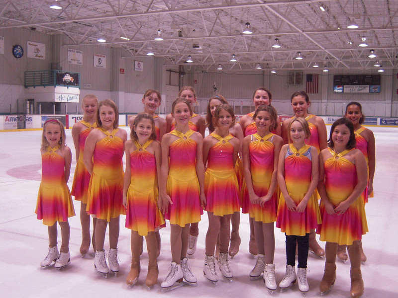 Synochronized Skating Team from the Southwest Michigan Skating Club-Kalamazoo Michigan
