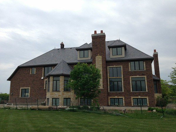 Synthetic Slate Roof, Copper Gutters & Masonry