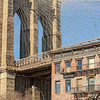 Brooklyn Bridge from Old Fulton St., Brooklyn