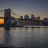 Manhattan last light, from Brooklyn Bridge Park