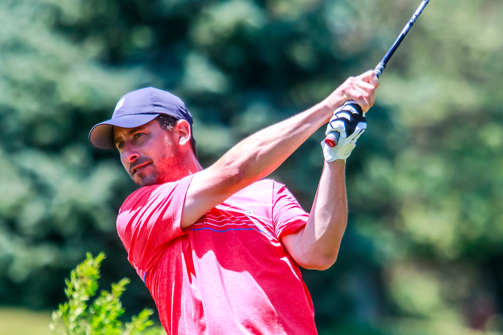 . With a big wooden bear gracing the clubhouse it was a Golden Grizzly, James Kneen, who took home the hardware for the 49th annual  Frank Syron Memorial Tournament in Pontiac on Sunday afternoon. (Oakland  Press photo by Timothy Arrick)
