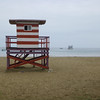 The lifeguard stand at the beach.