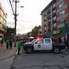 Road blocked off for the Marcha de las Putas.