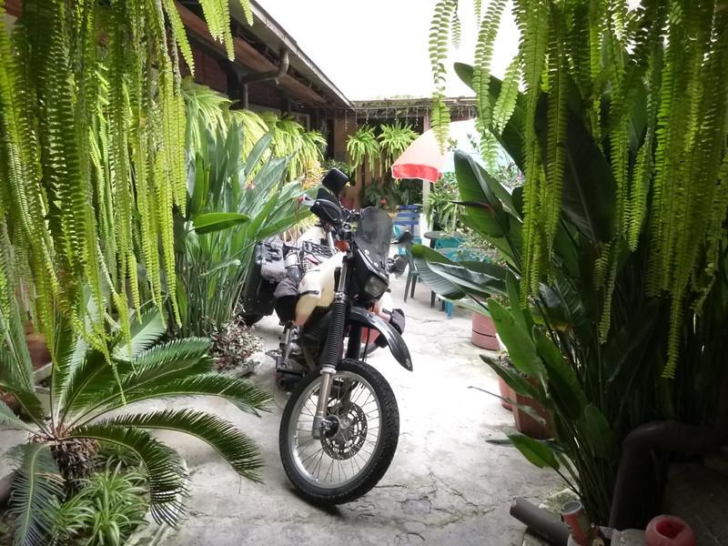 Bikes parked in courtyard