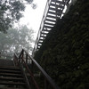 The stairs up to the top of Templo II