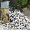 Making gravel.