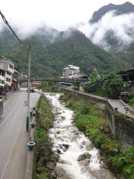 River through town.