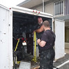 Bear loading Millie into his trailer, North Little Rock, AR