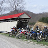 L-R: Jon, my bike, Byron, Matt, Alan.  Skull Fork Covered Bridge, near Freeport.