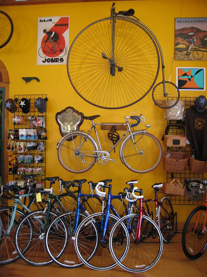 32 Vintage Bikes on East Wall