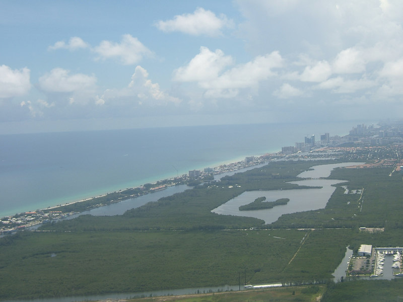 Leaving Fort Lauderdale on the plane on the way to Virgin Islands