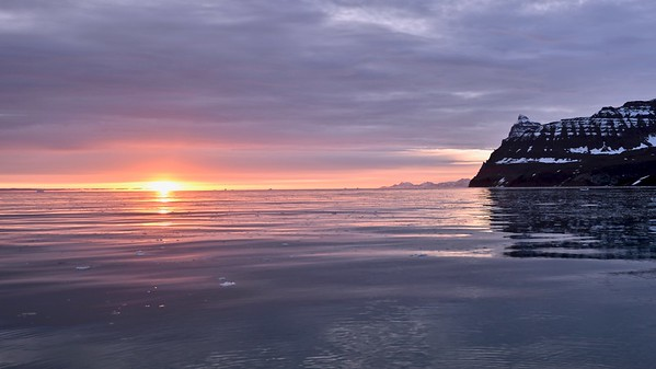 The Solgletscher - Scoresby Sound - Sunrise