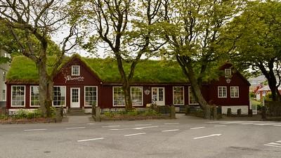 The city of Tórshavn on Faroer islands