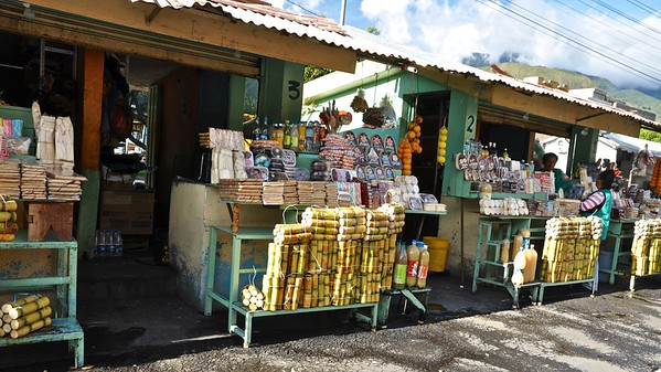 Banos - Market - Packs of sugar cane stick