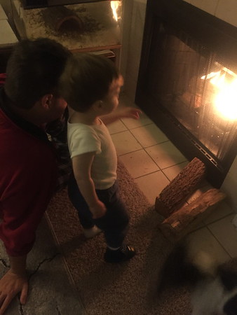 Daddy and Fireplace