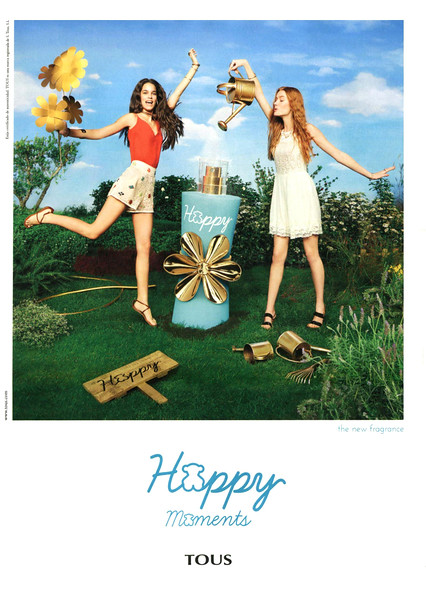 TOUS Moments Happy 2016 Spain (format Hola 24 x 33 cm) 'the new fragrance'