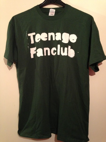 """Teenage Fanclub, 2016. This classic """"stencil"""" logo dates from the early 90s, so this is probably a reissue, repress, or re-design of an older shirt. Bought at the Birmingham Digbeth Institute on 26th November."""
