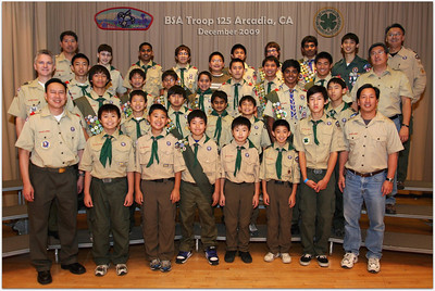 The Official Troop 125 Team Photo, December 2009