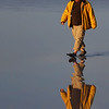 "The artist...Scott Stringham...walking on water!    <br /> <br /> Ok...so he's walking IN water ( about 1/2"")...still looks cool!"