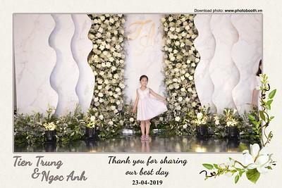 Tien Trung & Ngoc Anh Wedding @ Long Vĩ Palace, Ha Noi - instant print photo booth in Ha Noi - Chụp hình in ảnh lấy ngay Tiệc Cưới