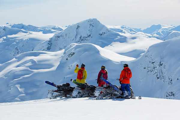 Whistler Backcountry. Elyse Saugstad and Alexi Godbout