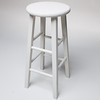 ST035 White Studio Stool