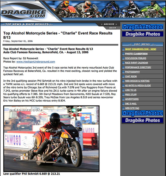 """9/1/06 - Heres a TAMX Race Report featuring Photos by HooliganUnderground:<p><a href=""""http://www.dragbike.com/dbnews/anmviewer.asp?a=2426&z=14/"""" target=""""_new""""> SEE FULL REPORT</a></p>"""