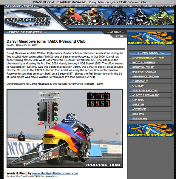 """12/24/06  -  """"PHOTO OF THE WEEK""""!!<p><a href=""""http://www.dragbike.com/dbnews/anmviewer.asp?a=2685&z=7/"""" target=""""_new""""> CLICK HERE TO SEE</a></p>"""