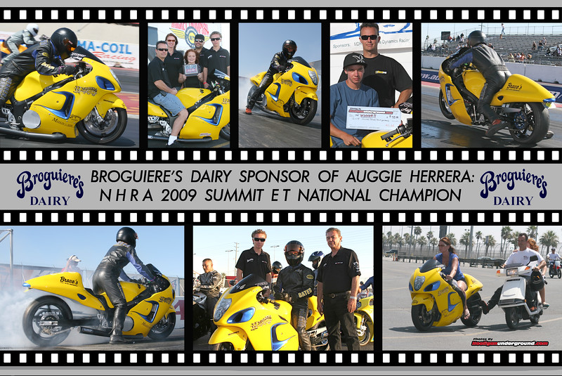 NHRA 2009 SUMMIT E T CHAMPION AUGUSTINE HERRERA AWARDED THIS CUSTOM HOOLI-POSTER TO A SPONSOR !!
