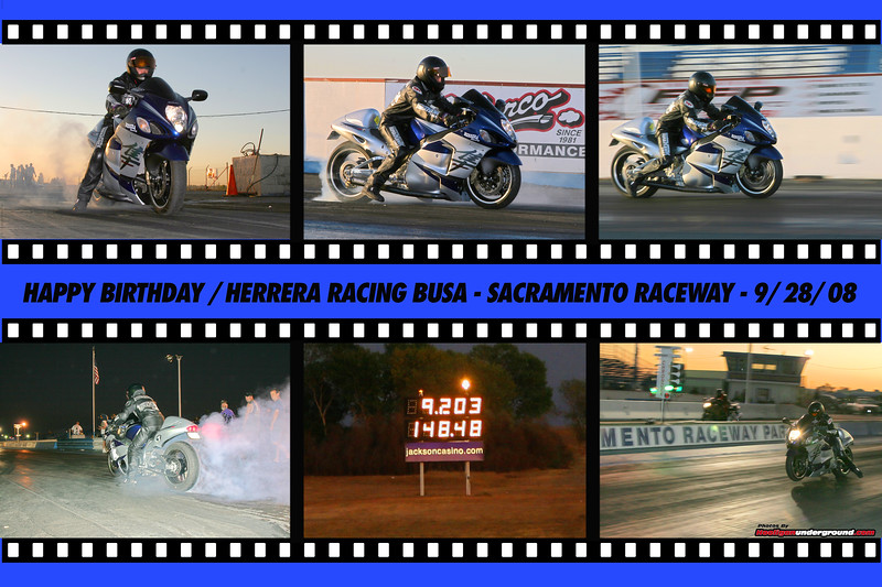 Gaige Herrera celebrates his first 9.20 at Sacramento Raceway - Happy Birthday Gaige!!