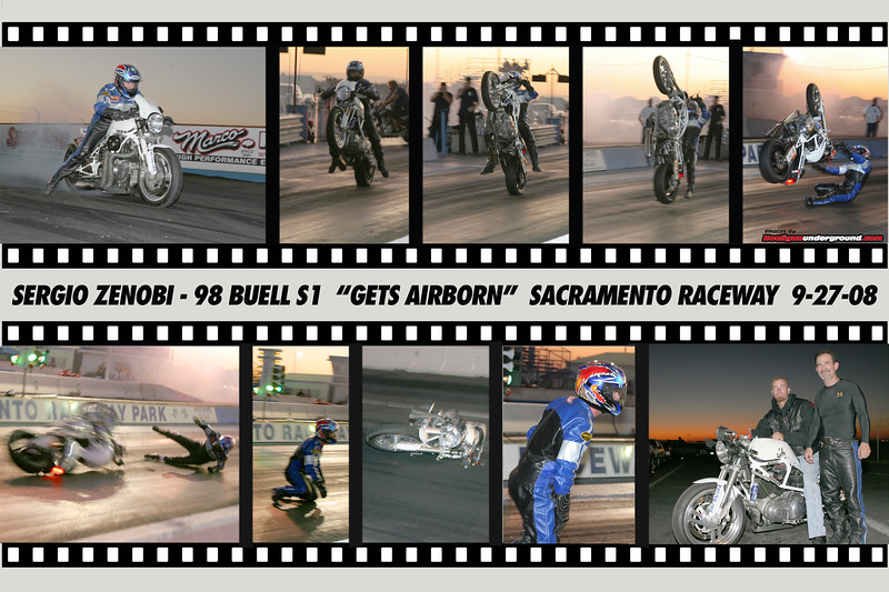 CLICK TO ENLARGE!!  Sergio Zenobi's wild flip at the West Coast Challenge was captured by the lens of HooliganUnderground.com and turned into this custom collage - by the way Sergio walked away unscathed!