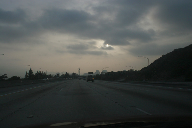 Awful dreary on the ride home.....probobly another fire somewhere (6:00PM)