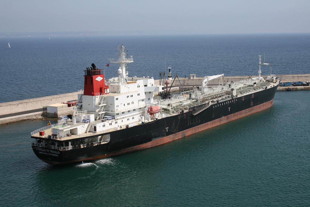 Oil/Chemical tanker CASTILLO DE TRUJILLO in Palma de Mallorca.