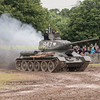 RUSSIAN T34 / 85 DEMONSTRATIN LAYING A SMOKE SCREEN