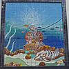 MOSAIC OF SPONGE DIVER FROM THE PAST.