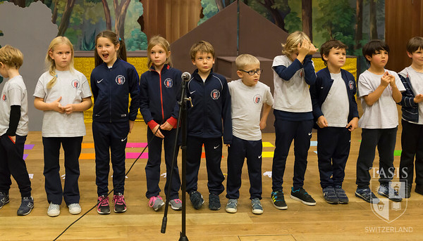 First Grade Assembly in the Palmer Center