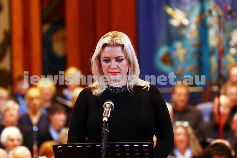 26-6-16. Temple Beth Israel Sacred Music Concert, an Interfaith Celebration, June 2016. Soprano: Lee Abrahmsen. Photo: Peter Haskin
