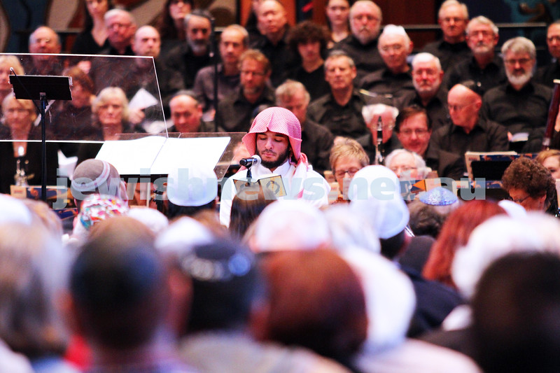 15-6-14. Temple Beth Israel. Sacred Music Concert - An Interfaith Celebration. Abdul Aziz, Koran reading. Photo: Peter Haskin
