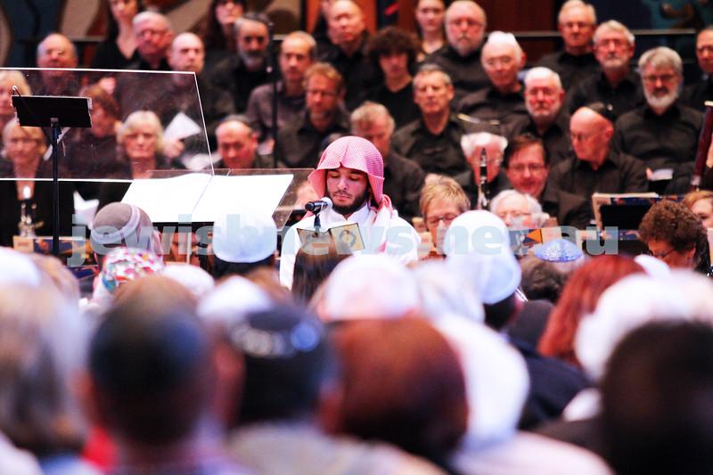 15-6-14. Temple Beth Israel. Sacred Music Concert - An Interfaith Celebration. Abdul Aziz, Koran reading. Photo: Peter Haskin